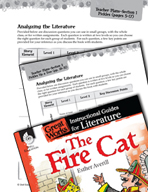 The Fire Cat Leveled Comprehension Questions (Great Works Series)