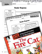 The Fire Cat Reader Response Writing Prompts (Great Works Series)