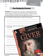 The Giver Close Reading and Text-Dependent Questions (Grea