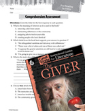 The Giver Comprehension Assessment (Great Works Series)