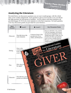The Giver Leveled Comprehension Questions (Great Works Series)