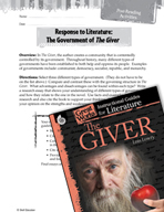 The Giver Post-Reading Activities (Great Works Series)