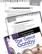 The Great Gatsby Comprehension Assessment (Great Works Series)