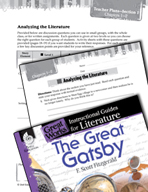 The Great Gatsby Leveled Comprehension Questions (Great Works Series)