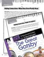 The Great Gatsby Making Cross-Curricular Connections (Great Works Series)