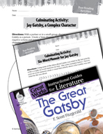 The Great Gatsby Post-Reading Activities (Great Works Series)