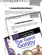 The Great Gatsby Studying the Story Elements (Great Works Series)