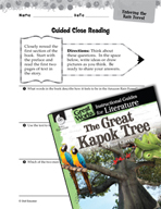 The Great Kapok Tree Close Reading and Text-Dependent Questions (Great Works Series)