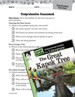The Great Kapok Tree Comprehension Assessment (Great Works Series)