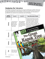 The Great Kapok Tree Leveled Comprehension Questions (Great Works Series)