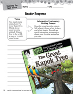 The Great Kapok Tree Reader Response Writing Prompts (Great Works Series)