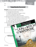 The Lion, the Witch and the Wardrobe Comprehension Assessment (Great Works Series)