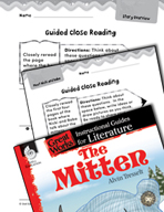 The Mitten Close Reading and Text-Dependent Questions (Great Works Series)