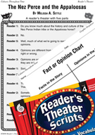 The Nez Perce and the Appaloosas Reader's Theater Script a