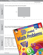 The Number System Leveled Problems: Area and Decimals