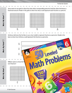 The Number System Leveled Problems: Converting Fractions t