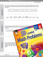 The Number System Leveled Problems: Integer Values