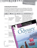 The Odyssey Leveled Comprehension Questions (Great Works Series)