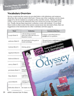 The Odyssey Vocabulary Activities (Great Works Series)