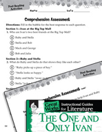 The One and Only Ivan Comprehension Assessment (Great Works Series)