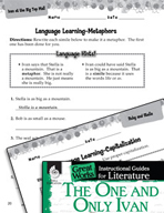 The One and Only Ivan Language Learning Activities (Great Works Series)
