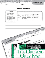 The One and Only Ivan Reader Response Writing Prompts (Great Works Series)