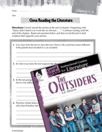 The Outsiders Close Reading and Text-Dependent Questions (Great Works Series)