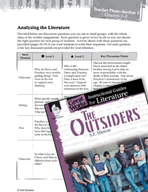 The Outsiders Leveled Comprehension Questions (Great Works Series)