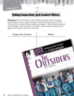 The Outsiders Making Cross-Curricular Connections (Great W