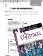 The Outsiders Studying the Story Elements (Great Works Series)