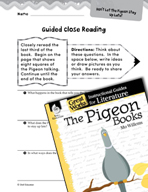 The Pigeon Books Close Reading and Text-Dependent Questions (Great Works Series)