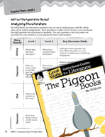 The Pigeon Books Leveled Comprehension Questions (Great Works Series)
