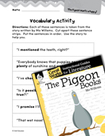 The Pigeon Books Vocabulary Activities (Great Works Series)