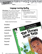 The Stories Julian Tells Language Learning Activities (Gre