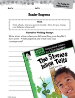 The Stories Julian Tells Reader Response Writing Prompts (Great Works Series)