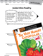 The Very Hungry Caterpillar Close Reading and Text-Depende