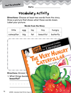 The Very Hungry Caterpillar Vocabulary Activities (Great W