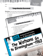 The Watsons Go to Birmingham - 1963 Comprehension Assessment (Great Works Series)