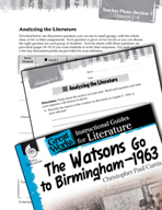 The Watsons Go to Birmingham - 1963 Leveled Comprehension Questions (Great Works Series)