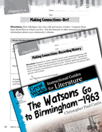 The Watsons Go to Birmingham - 1963 Making Cross-Curricular Connections (Great Works Series)