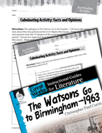 The Watsons Go to Birmingham - 1963 Post-Reading Activities (Great Works Series)