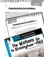 The Watsons Go to Birmingham - 1963 Post-Reading Activities (Great Works Series)