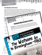The Watsons Go to Birmingham - 1963 Vocabulary Activities