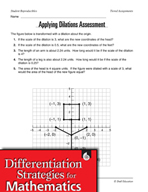 Tiered Geometry Assignment - Applying Dilations