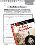 To Kill a Mockingbird Close Reading and Text-Dependent Que