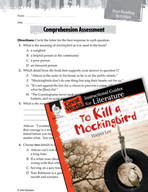 To Kill a Mockingbird Comprehension Assessment (Great Work
