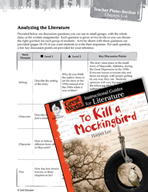 To Kill a Mockingbird Leveled Comprehension Questions (Great Works Series)