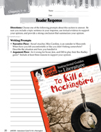 To Kill a Mockingbird Reader Response Writing Prompts (Great Works Series)