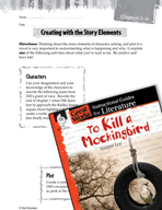 To Kill a Mockingbird Studying the Story Elements (Great Works Series)