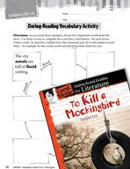 To Kill a Mockingbird Vocabulary Activities (Great Works Series)